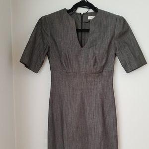 Calvin Klein Black Short Sleeve Sheath Dress